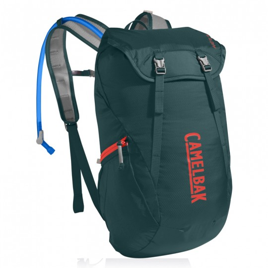Camelbak Arete 18 16.5L Hydration Backpack with 1.5L Crux Reservoir Deep Teal Hot Coral