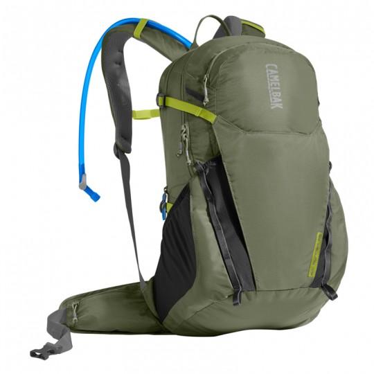 Camelbak Rim Runner 22 19.5L Hydration Backpack with 2.5L Crux Reservoir Lichen Green / Dark Green Citro