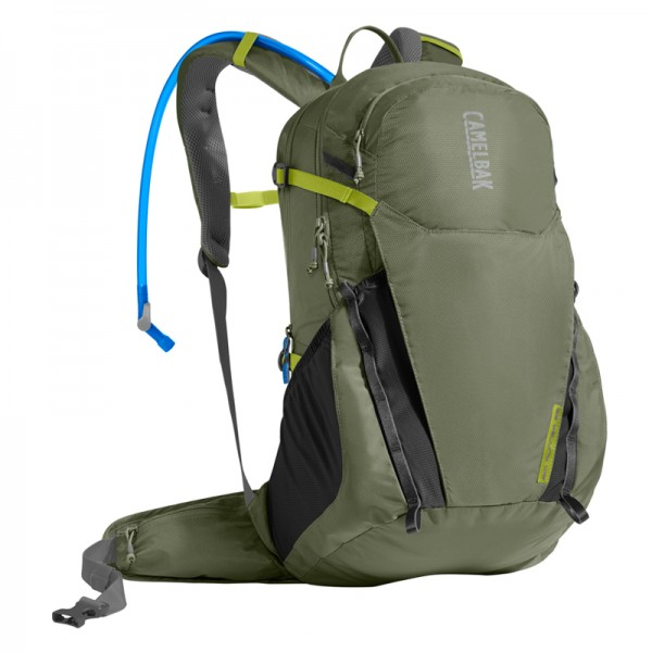 Camelbak Rim Runner 22 19.5L Hydration Backpack with 2.5L Crux Reservoir Lichen Green / Dark Green Citro