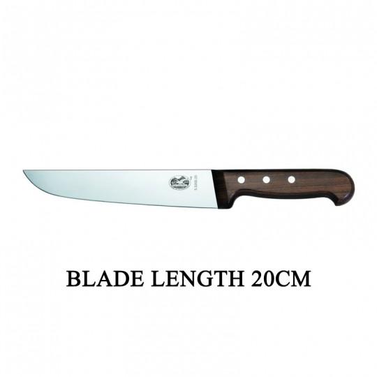 Victorinox RoseWood 20cm Rigid Wood Broad Blade Butcher Knife 5.5200.20