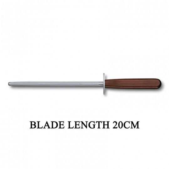 Victorinox RoseWood Round 20cm Sharpening Steel Kitchen Knife Sharpener 7.8210
