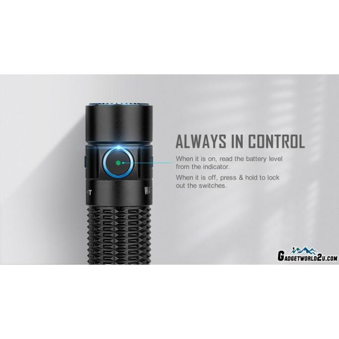 Olight Warrior Mini Black LUMINUS SST40 1500L LED Rechargeable Flashlight