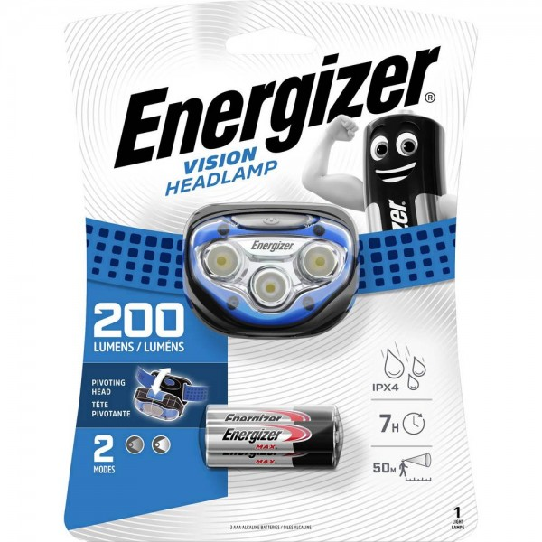 Energizer Vision Headlight 200L LED Headlamp HDA323
