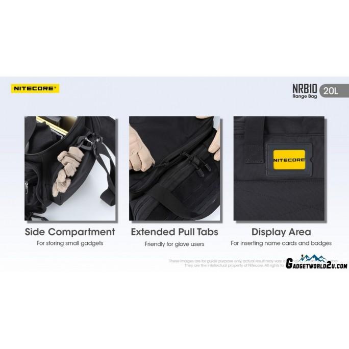 Nitecore NRB10 20L Multi-Purpose Modular MOLLE Shoulder Bag