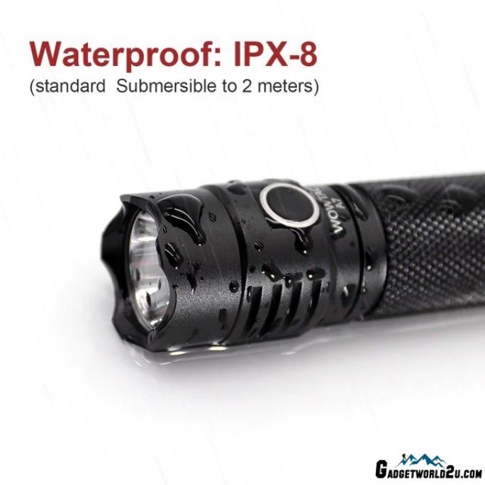 WOWTAC A7 CREE XP-L HI CW LED 1047L Rechargeable Flashlight