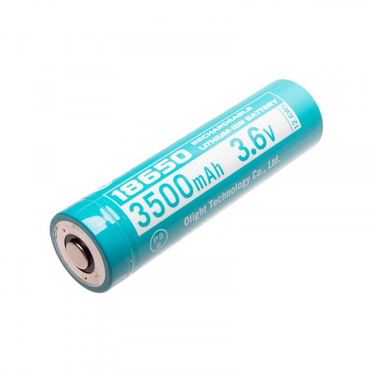 Olight Custom 18650 3.6V 3500mAh HDC 10A Protected Rechargeable Li-ion Battery ORB-186C35