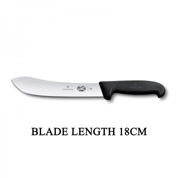 Victorinox Fibrox 18cm Wide Tip Curved Rigid Slaughter Butcher Knife 5.7403.18