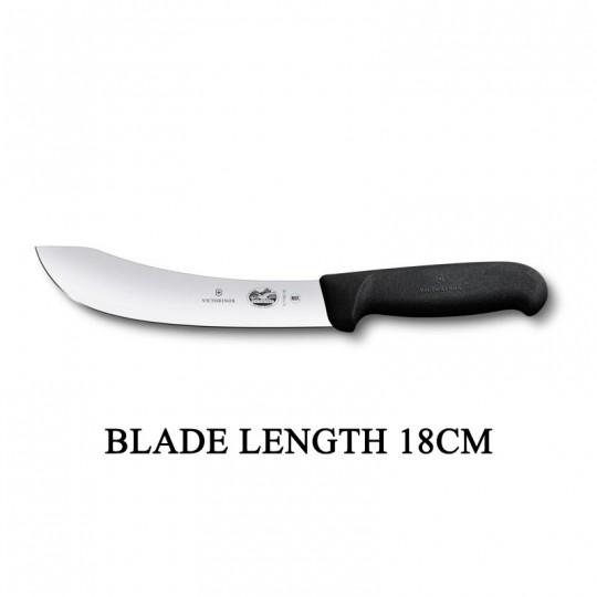 Victorinox Fibrox 18cm Curved Rigid Butcher Skinning Knife 5.7703.18