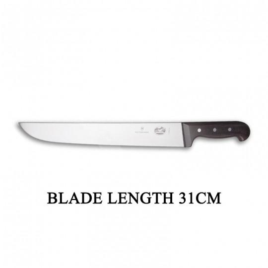 Victorinox RoseWood 31cm Rigid Wood Broad Blade Butcher Knife 5.5200.31