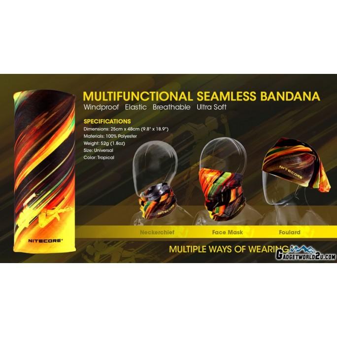Nitecore Bandana Multifunctional Seamless Windproof Elastic Breathable Ultra Soft TROPICAL