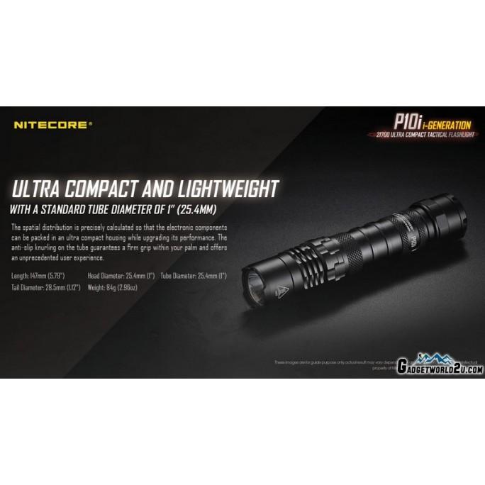 Nitecore P10i Luminus SST-40-W LED 1800L USB Rechargeable Flashlight