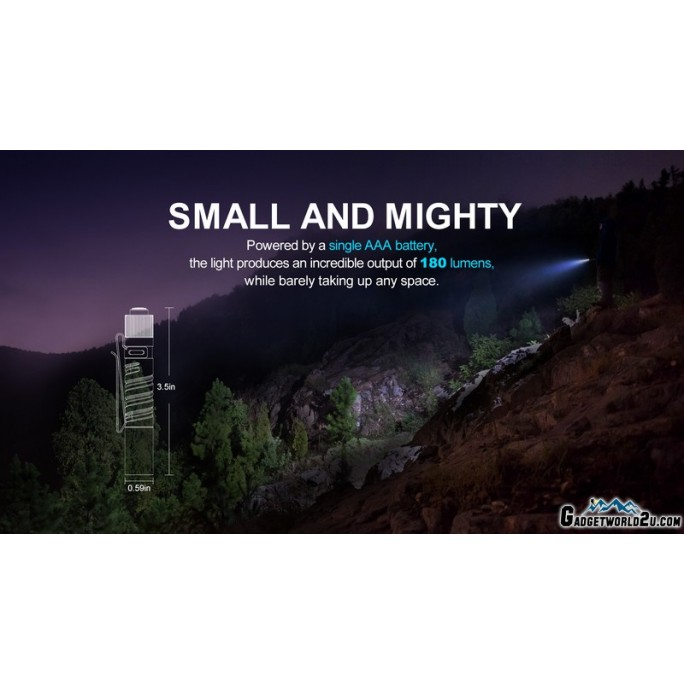 Olight I3T EOS Ti Titanium Dual-Output Luxeon TX CW LED 180L Flashlight