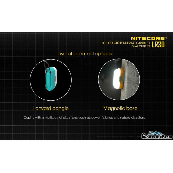 Nitecore LR30 White & Red Bi-Fuel Rechargeable 205L Portable Camping Lantern Blue