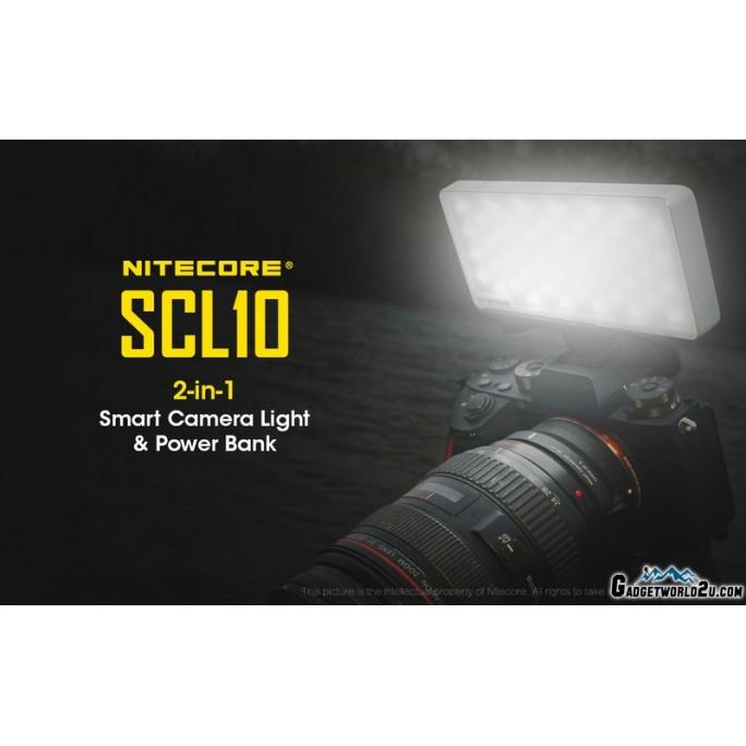 Nitecore SCL10 800L High CRI 2-in-1 Smart Camera Light & 10000mAh Power Bank