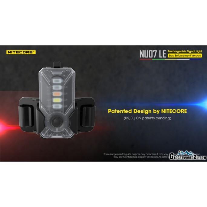 Nitecore NU07 LE 5-Colour Mini USB Rechargeable Helmet Molle Signal Safety Light