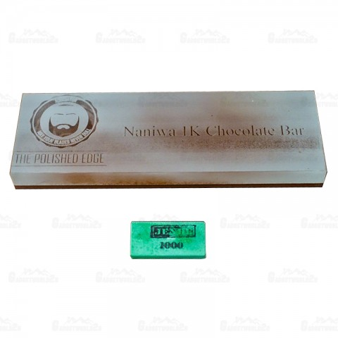 Jende Naniwa 210 x 70 Japanese Water Sharpening Stone 1000 Chocolate Bar Grit (The Polished Edge Edition)