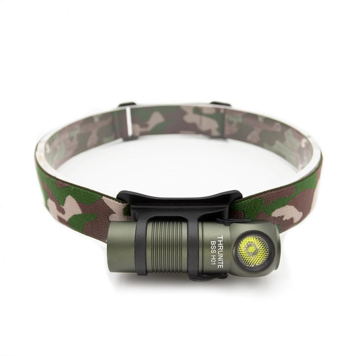ThruNite BSS H01 Green CREE XP-G3 CW LED 687L USB Rechargeable Headlamp Flashlight