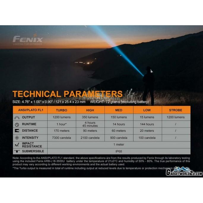 Fenix LD32 UVC CREE XHP 35 CW Ultraviolet-C Disinfecting USB Rechargeable Flashlight