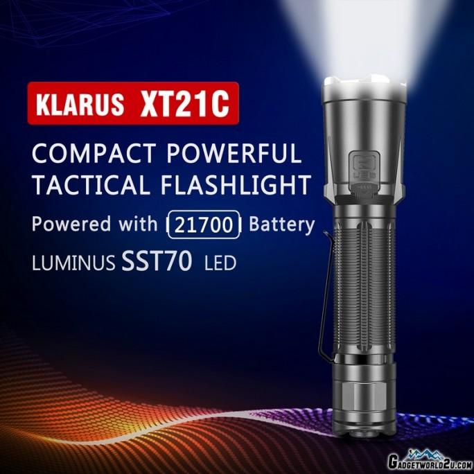 Klarus XT21C LUMINUS SST70 LED 3200L Rechargeable Flashlight