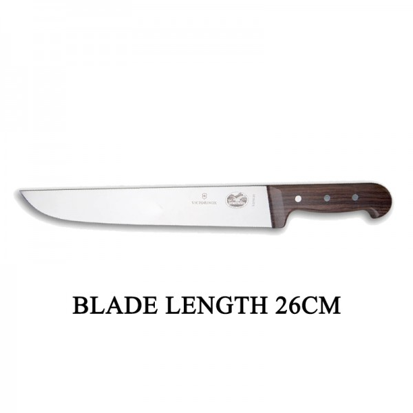 Victorinox RoseWood 26cm Rigid Wood Broad Blade Butcher Knife 5.5200.26