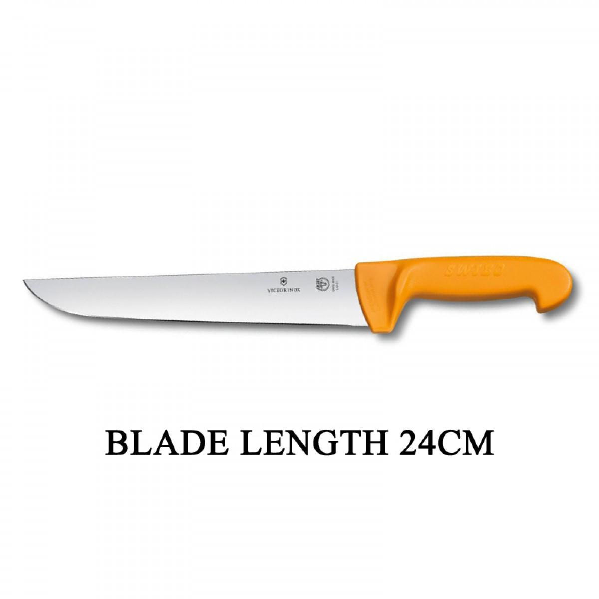 Victorinox Swibo 24cm Wide Straight Rigid Slaughter Butcher Knife 5.8431.24