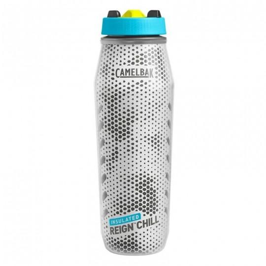 Camelbak Reign Chill 1L 1 Liter Insulated BPA Free Sport Water Bottle Lime Green/Volt Blue