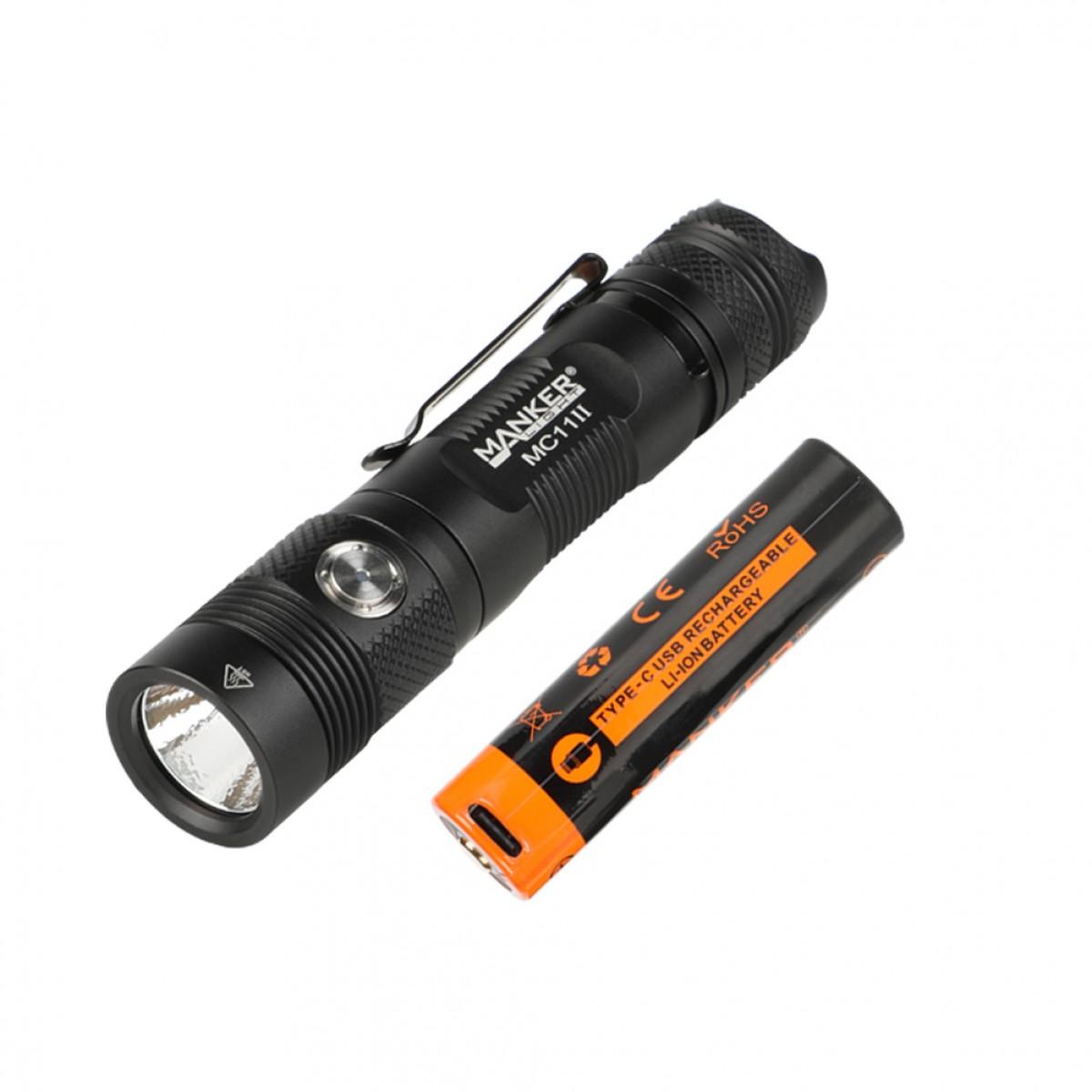 Manker MC11 II LUMINUS SST40 CW LED 2000L Rechargeable Flashlight