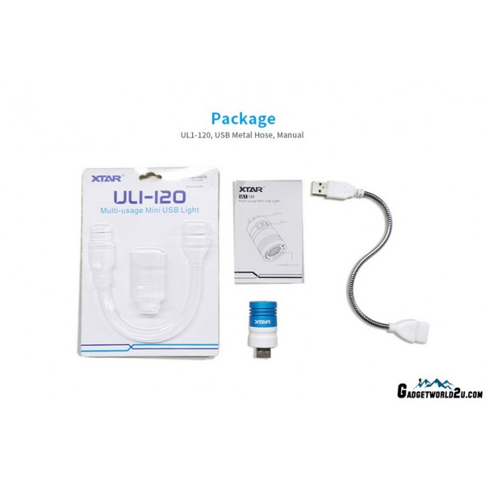 Xtar UL1-120 White/Red/Green/Blue LED Multi-usage Mini USB Light
