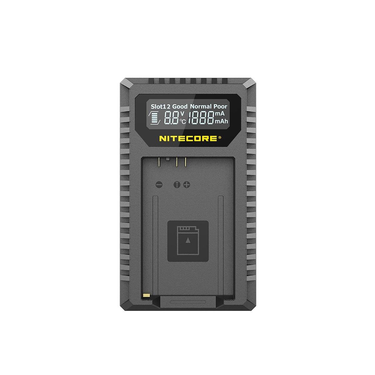 Nitecore UCN5 Dual Slot USB-C QC Digital Charger for Canon LP-E17 Batteries