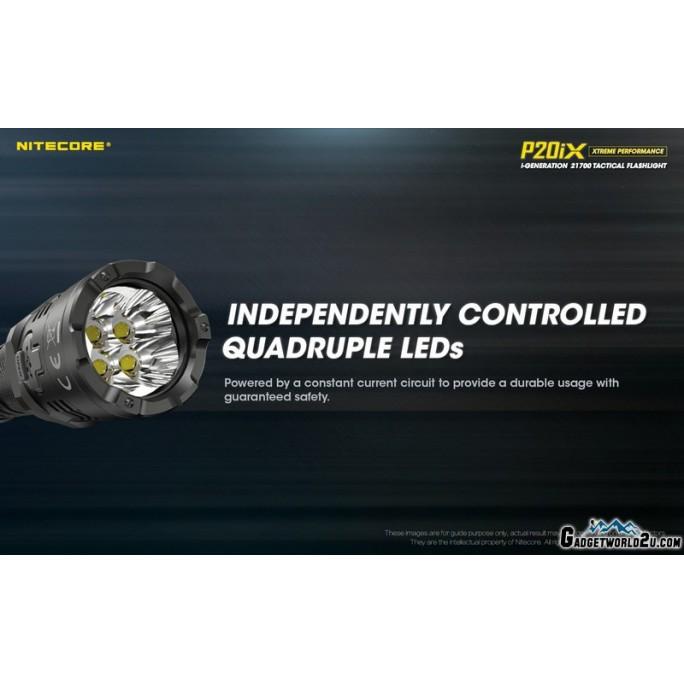 Nitecore P20iX CREE XP-L2 V6 LED 4000L USB Rechargeable Flashlight