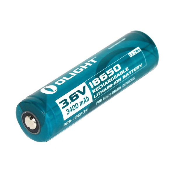 Olight 18650 3.6v / 3.7V 3400mAh Protected Rechargeable Li-ion Battery