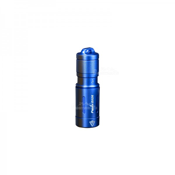 Fenix E02R Cree XP-G2 S3 LED CW 200L Keychain Flashlight BLUE