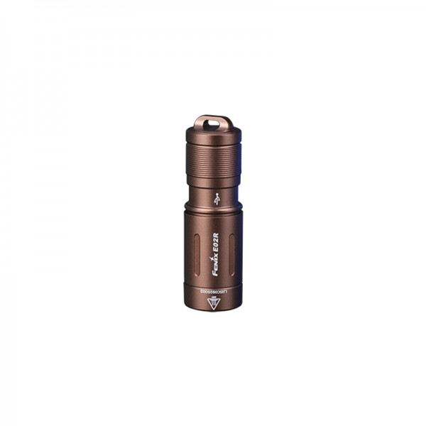 Fenix E02R Cree XP-G2 S3 LED CW 200L Keychain Flashlight BROWN