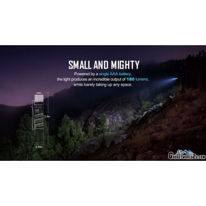 Olight I3T EOS Mountain Sky Dual-Output Luxeon TX CW LED 180L Flashlight