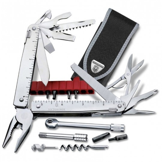 Victorinox SwissTool X Plus Ratchet Multitool Plier Nylon Pouch 3.0339.N