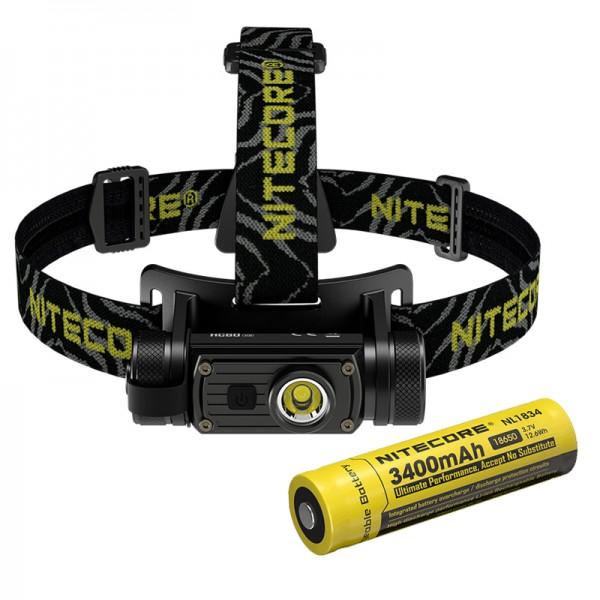 Nitecore HC60 V2 OSRAM P9 LED 1200 Lumens Headlamp w Battery