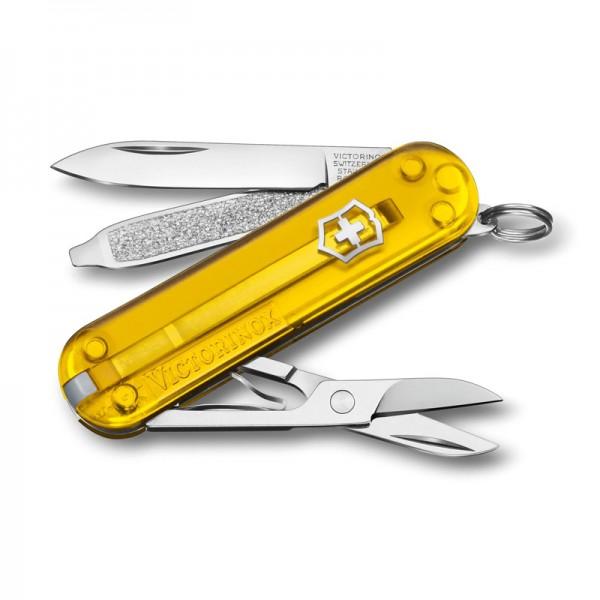 Victorinox Classic SD Tuscan Sun Transparent Yellow Multitool 0.6223.T81G