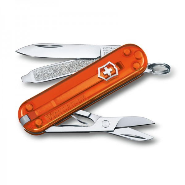 Victorinox Classic SD Fire Opal Transparent Orange Multitool 0.6223.T82G