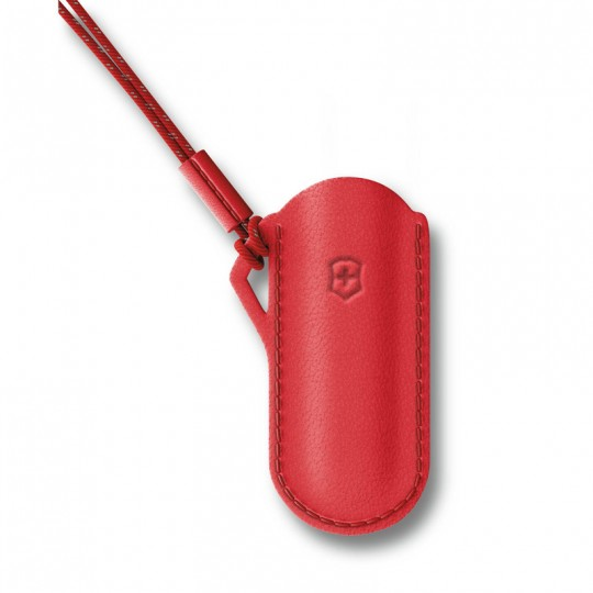 Victorinox Leather Pouch Classic Colors Style Icon Red 58mm 4.0670
