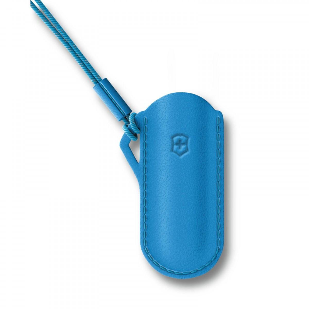 Victorinox Leather Pouch Classic Colors Summer Rain Light Blue 58mm 4.0670.2
