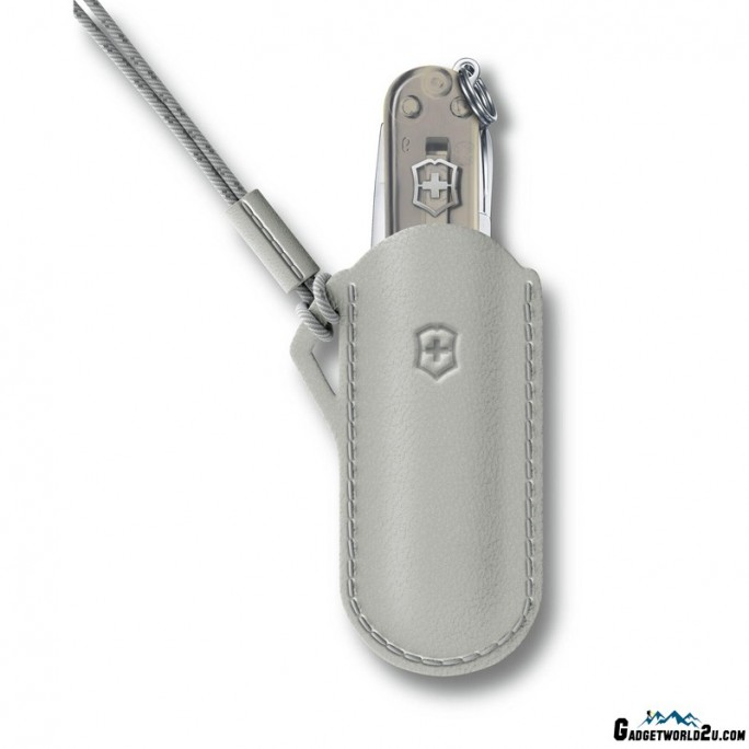 Victorinox Leather Pouch Classic Colors Mystical Morning Grey 58mm 4.0670.31