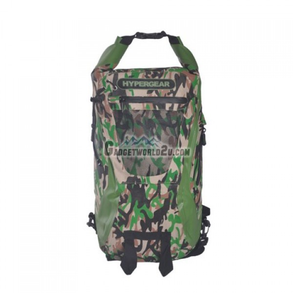 Hypergear Back Pack Dry Pac Tough 20 Liter - Camo Green