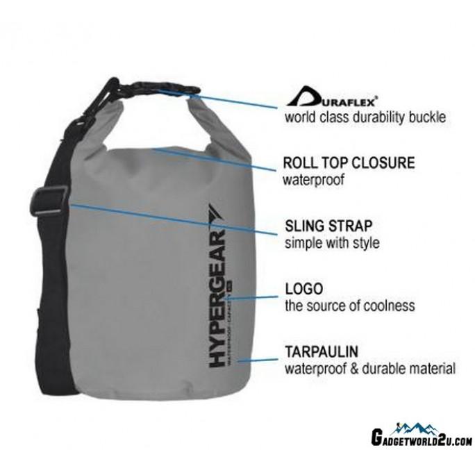 Hypergear Adventure Dry Bag Water Resistant 15 Liter - Black
