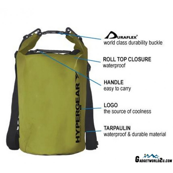 Hypergear Adventure Dry Bag Water Resistant 20 Liter - Grey