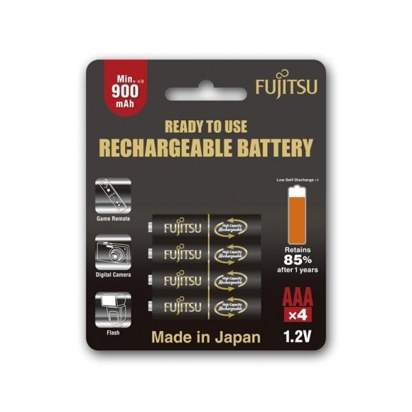 Fujitsu AAA x4 950mAh NiMH 500 Cycle Rechargeable Battery Japan
