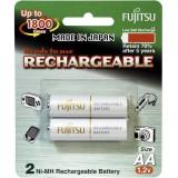 Fujitsu AA x2 2000mAh NiMH 1800 Cycle Rechargeable Battery