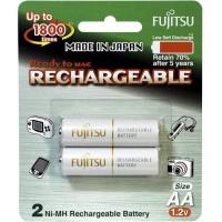 Fujitsu AA x2 2000mAh NiMH 1800 Cycle Rechargeable Battery Japan