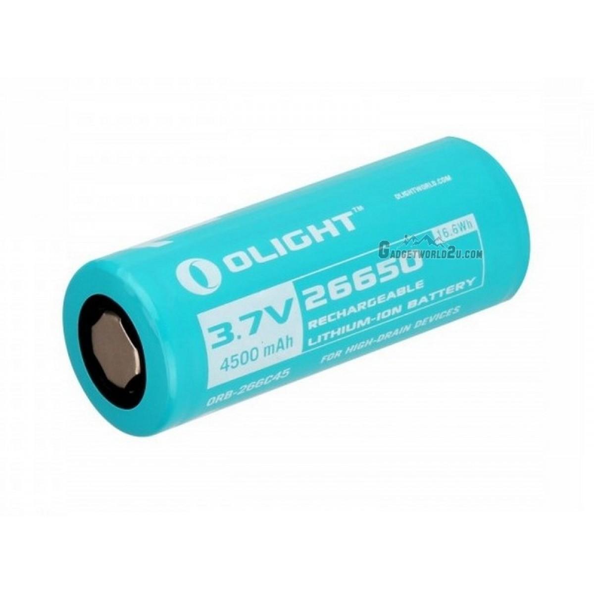 Olight Custom 26650 3.7V 4500mAh Li-ion Battery for R50 / R50 Pro