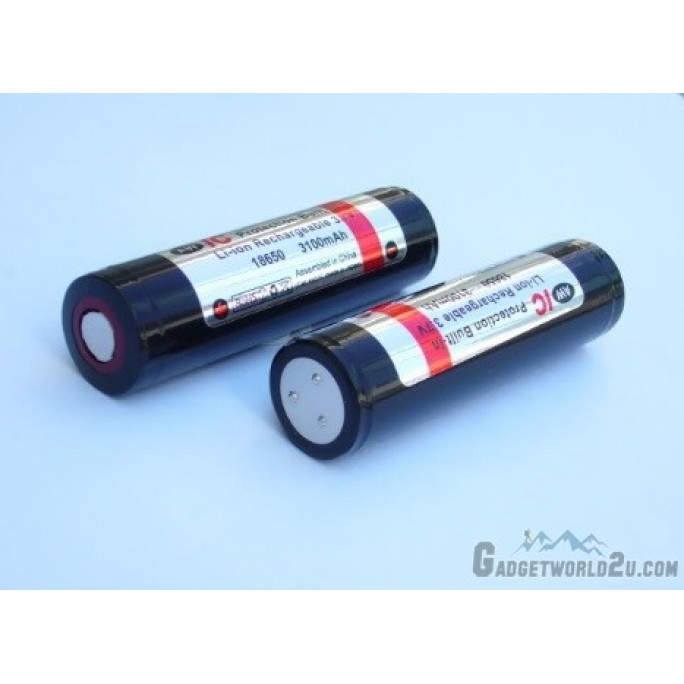 AW 18650 3.7V 3400mAh Protected Li-ion Rechargeable Battery