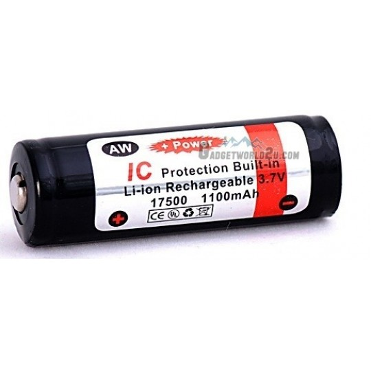 AW 17500 3.7V 1100mAh Protected Li-ion Rechargeable Battery